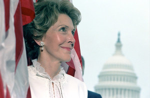 9/15/1982 Nancy Reagan during a reception marking the first edition of the newspaper USA Today at the Capitol Mall in Washington DC